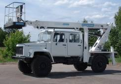 ГАЗ. Автовышка АГП- 20 Т шасси -33081 пятиместная 4х4, 3 000 куб. см., 20 м.