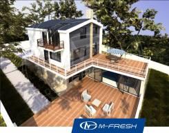 M-fresh Luxury gold (Готовый проект современного дома с террасой! ). 300-400 кв. м., 2 этажа, 5 комнат, кирпич