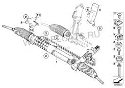 Рулевая рейка. BMW 3-Series, E90 Двигатель N46B20