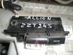 Кнопка включения аварийной сигнализации. Toyota Allion, ZZT245, ZRT265, ZRT260, NZT260, ZZT240, NZT240, AZT240, ZRT261 Toyota Premio, AZT240, NZT240...