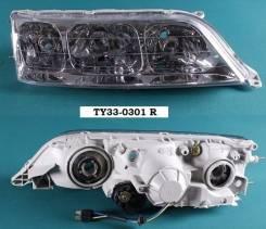 Фара. Toyota Mark II, GX100, GX105, JZX105, JZX100, JZX101 Двигатели: 1JZGTE, 1GFE, 2JZGE, 1JZGE