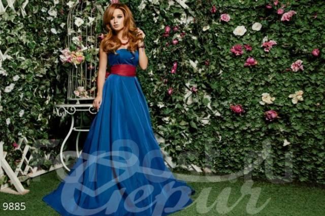 Бородина ксения в синем платье