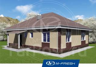 M-fresh Big Martin-зеркальный (Деревянный каркас, 4-скатная крыша). 100-200 кв. м., 1 этаж, 4 комнаты, каркас