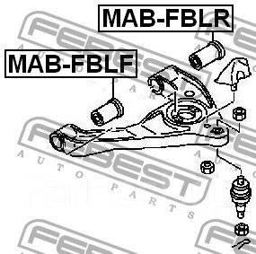 Сайлентблок рычага, тяги. Mitsubishi Canter