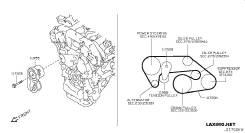 Натяжной ролик. Nissan: Infiniti G37 Convertible, 350Z, Fairlady Z, 370Z, Infiniti M35/45, Infiniti EX35/37, Infiniti G37 Coupe, Infiniti M, Infiniti...