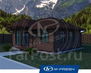 M-fresh Topazzzzz (Проект уютного 1-этажного дома с 3 комнатами). до 100 кв. м., 1 этаж, 3 комнаты, каркас
