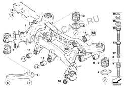 Балка поперечная. BMW 3-Series, E90 Двигатель N46B20