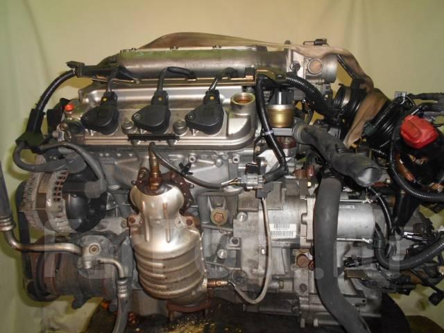 Контрактный б/у двигатель + акпп J30A на Honda