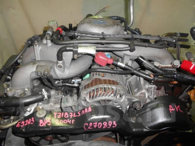 Контрактный б/у двигатель + акпп EJ203 на Subaru