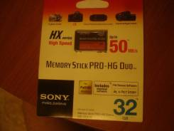 Memory Stick PRO-HG Duo HX. 32 Гб, интерфейс Sony Memory Stick