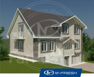 M-fresh Martini (Проект дома для участка с перепадом). 300-400 кв. м., 2 этажа, 6 комнат, бетон