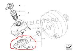 Цилиндр главный тормозной. BMW 3-Series, E90 Двигатель N46B20