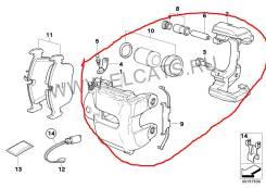 Суппорт тормозной. BMW 3-Series, E90 Двигатель N46B20