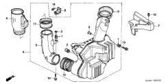 Резонатор воздушного фильтра. Honda Inspire, DBA-UC1, UA-UC1 Honda Accord Honda Zest Двигатель J30A4