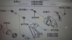 Суппорт тормозной. Toyota Land Cruiser, URJ202, UZJ200, VDJ200, URJ200, GRJ200 Двигатели: 1URFE, 2UZFE, 1GRFE, 1VDFTV, 3URFE