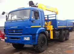 Soosan SCS736LII. Кран манипулятор Soosan SCS736L2 Top Камаз 43118-3027-46, 7 800 куб. см., 15 000 кг., 22 м.