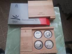 Набор серебряных олимпийских монет Барселона 1992