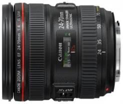Объектив Canon EF 24-70mm f/4L IS USM. Для Canon, диаметр фильтра 77 мм