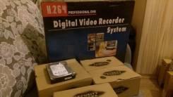 16 канальный новый комплект видеонаблюдения плюс жесткий 4 Тб. Менее 4-х Мп, с объективом