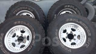Продам колёса WORK хром в отл состоянии на грязевой резине М/Т. 8.0x15 6x139.70 ET0 ЦО 110,0мм.