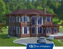 M-fresh Jennyfffffer (Проект каменного дома с цокольным гаражом! ). 300-400 кв. м., 2 этажа, 5 комнат, кирпич