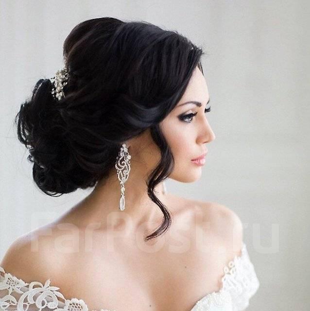Прически и макияж свадебный