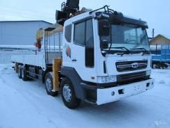 Daewoo Novus. Продам манипулятор 10 тонн стрела в Якутске, 11 000куб. см., 19 000кг., 8x4