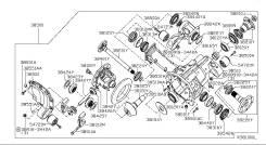 Подшипник редуктора. Infiniti QX56, JA60 Nissan Pathfinder, R51, R51M Nissan Armada, TA60 Nissan Titan, A60 Nissan Navara, D40M Двигатель VK56DE