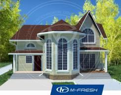 M-fresh Chill out progress-зеркальный (Готовый проект дома с эркером). 200-300 кв. м., 2 этажа, 4 комнаты, бетон