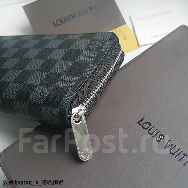 5557cba75382 Мужской кошелек Louis Vuitton Zippy Wallet Damier Graphite копия 1 1 ...