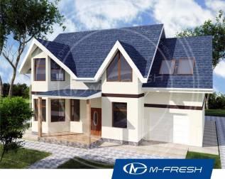 M-fresh Joker (Посмотрите готовый проект дома со встроенным гаражом! ). 200-300 кв. м., 2 этажа, 6 комнат, бетон