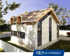 M-fresh Music (Проект интересного небольшого дома! ). 100-200 кв. м., 1 этаж, 3 комнаты, бетон
