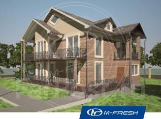 M-fresh Brooklyn (Проект большого дома для большой семьи! Посмотрите! ). 400-500 кв. м., 2 этажа, 7 комнат, кирпич