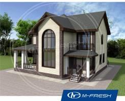 M-fresh Fazenda-зеркальный (Готовый проект дома с солнечным эркером! ). 200-300 кв. м., 2 этажа, 5 комнат, бетон