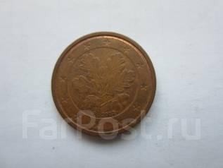 """Германия. 2 евро цента 2002 года. Отметка монетного двора: """"F"""" - Штутга"""
