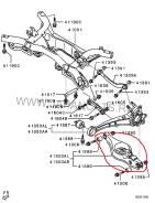 Тяга стабилизатора поперечной устойчивости. Mitsubishi Outlander, CW6W Двигатель 6B31