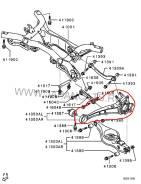Рычаг подвески. Mitsubishi Outlander, CW6W Двигатель 6B31