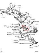 Тяга подвески. Mitsubishi Outlander, CW6W Двигатель 6B31