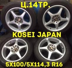 Kosei. 7.0x16, 5x100.00, 5x114.30, ET45
