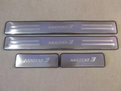 Накладка на порог. Mazda Mazda3