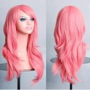 Парик Анимэ, розовый, искусственный волос