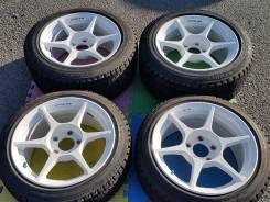 Крутые разноширокие Buddy Club P1 Racing + шины 225/50, 205/45r16. 7.5/8.5x16 5x114.30 ET32/37