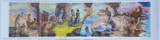 1989 СССР. Творчество Дж. Фенимора Купера. 5 марок(сцепка). Чистые