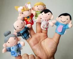 """Пальчиковые игрушка """"семья"""", 6 шт"""
