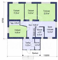 M-fresh Happy choice plus (Покупайте сейчас проект со скидкой 20%! ). 100-200 кв. м., 1 этаж, 4 комнаты, кирпич