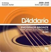 EJ41 Phos Bronze Комплект струн для акустической 12-струнной гитары
