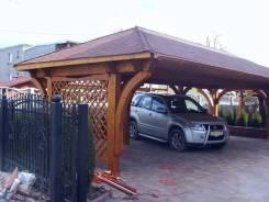 Деревянные навесы для авто. Под заказ