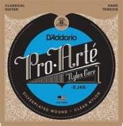 D`Addario EJ46PRO ARTE Струны для классической гитары нейлоновые Hard