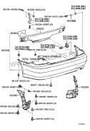 Бампер задний Toyota Altezza / IS250 98-05 4D