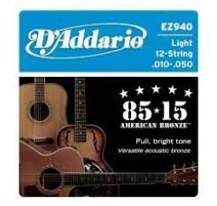 EZ940 American Bronze 85/15 Струны для 12-струнной акустической гитары